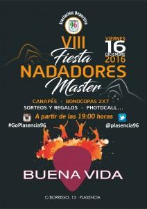 Cartel Fiesta Nadadores 96 BUENA VIDA 2016